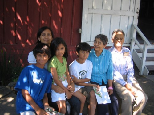 The whole Khare Family at the Winchester House